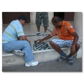 Αφίσα (σκάκι, Κούβα, άνθρωποι, πόλη, game)